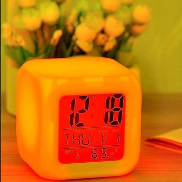 color changing alarm clock instructions