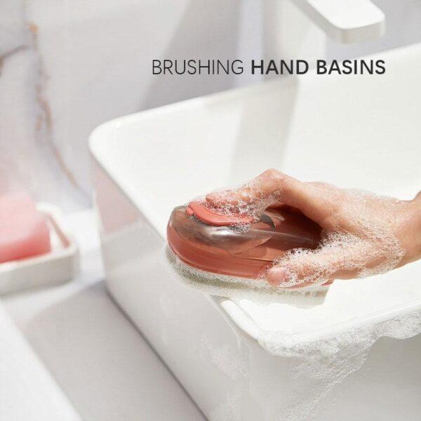 liquid soap dispensing brush