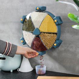 6-grid grain rice bucket cookingorbit.pk
