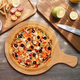wooden pizza board