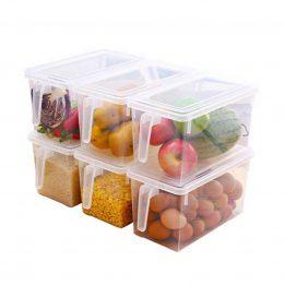 plastic food storage container organizer