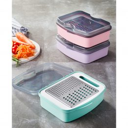 cheese grater with container and lid