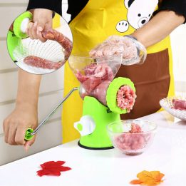 manual meat grinder with pulley