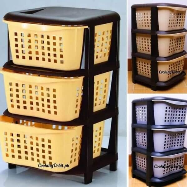 3 layer vegetable baskets and holders