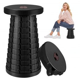 retractable portable folding telescopic stool